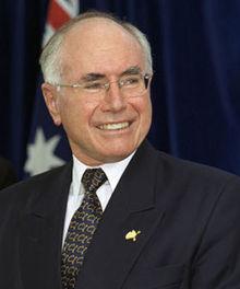 Australian Prime Minister John Winston Howard
