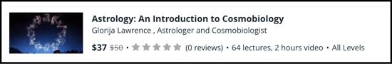 Learn Cosmobiology online